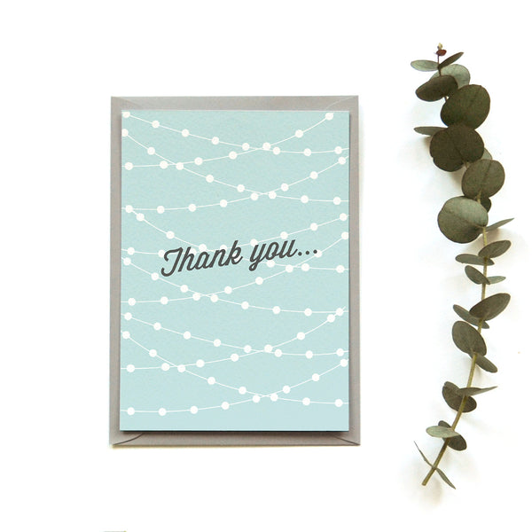 Personalised Wedding Thank you Card | Festoon