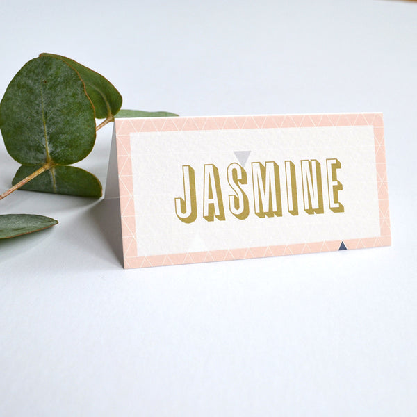 Personalised Wedding Place Cards | Geometry
