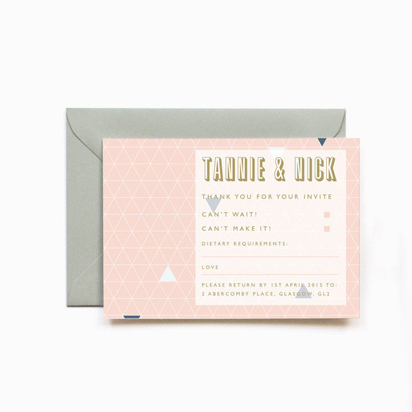 Personalised Wedding RSVP Card | Geometry