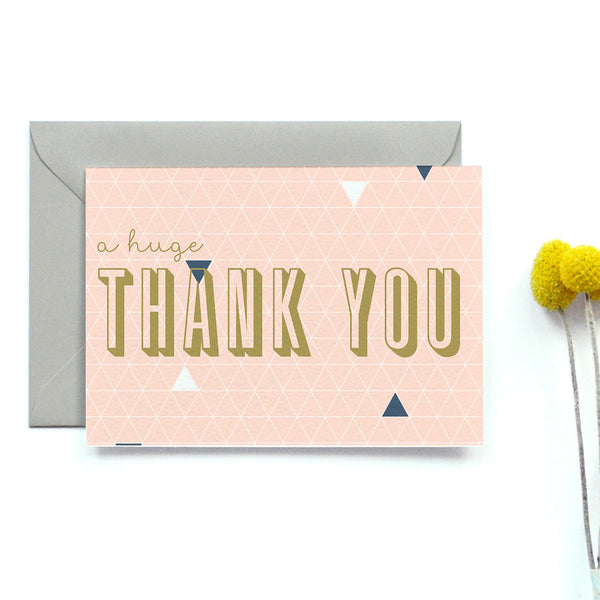 Personalised Wedding Thank you Card | Geometry