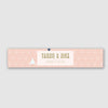 Personalised Wedding Invitation Wrap Band | Geometry