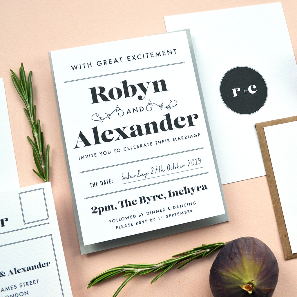 Modern Wedding Invitation Sample Pack | Gin Collection