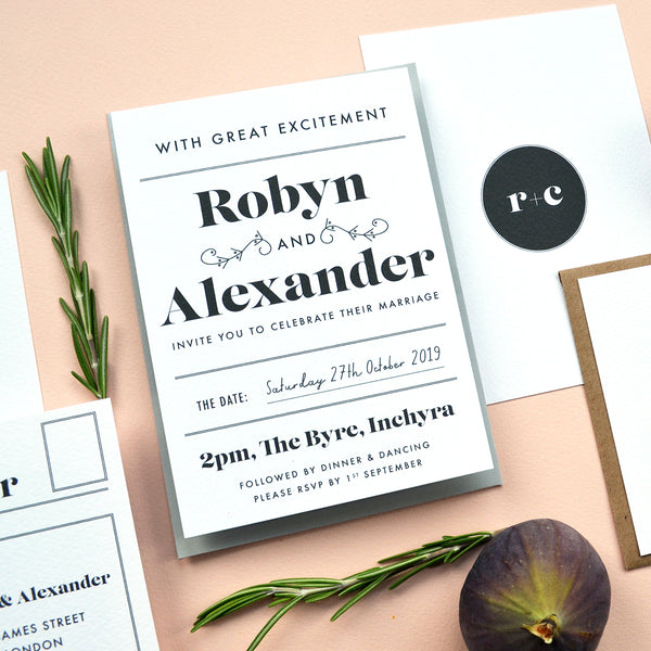 Wedding Stationery Sample Pack | Gin