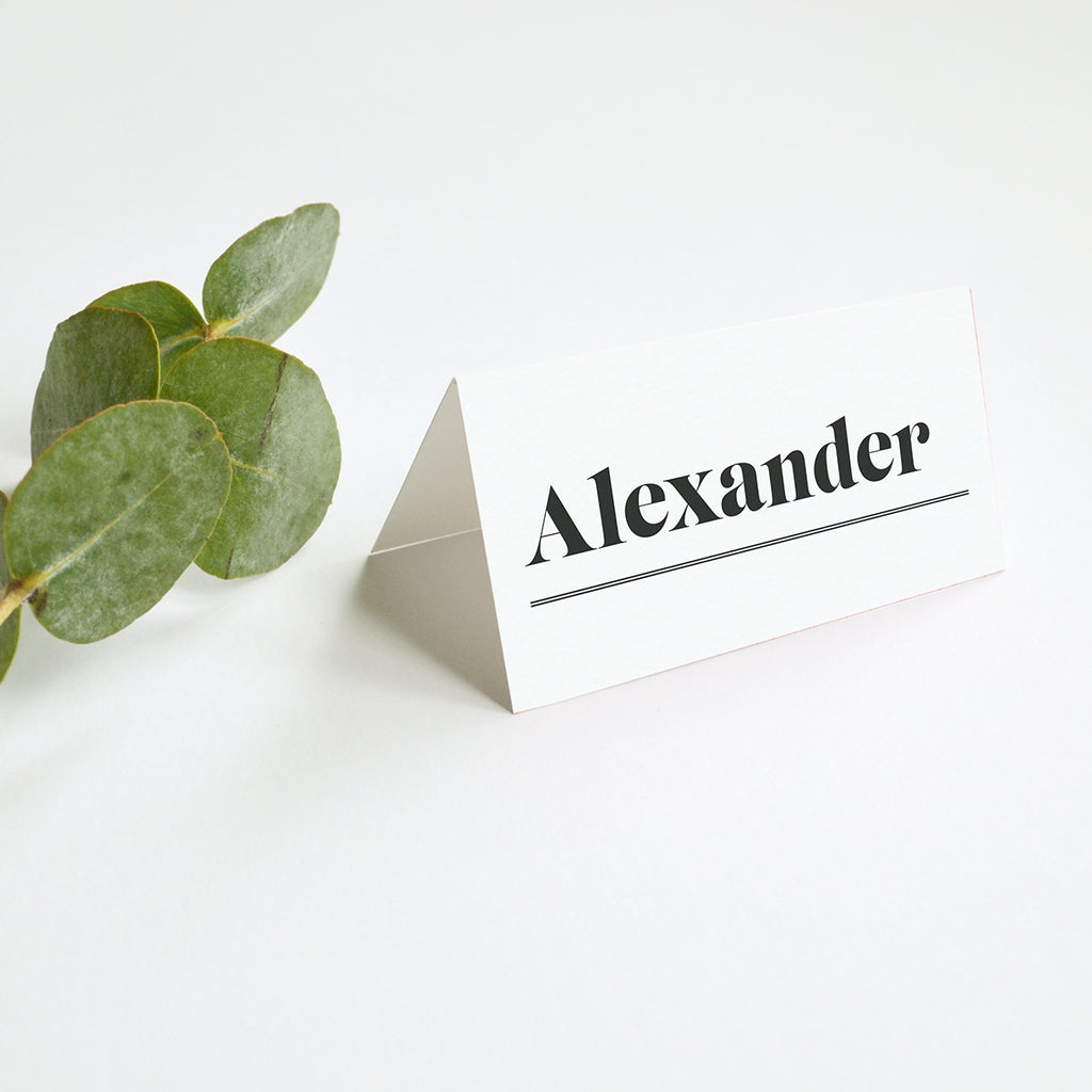 Personalised Wedding Place Cards | Gin