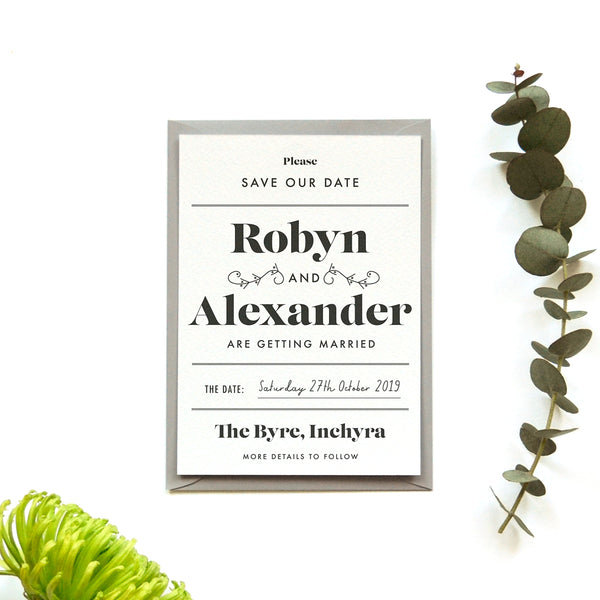Personalised Wedding Save the Date | Gin