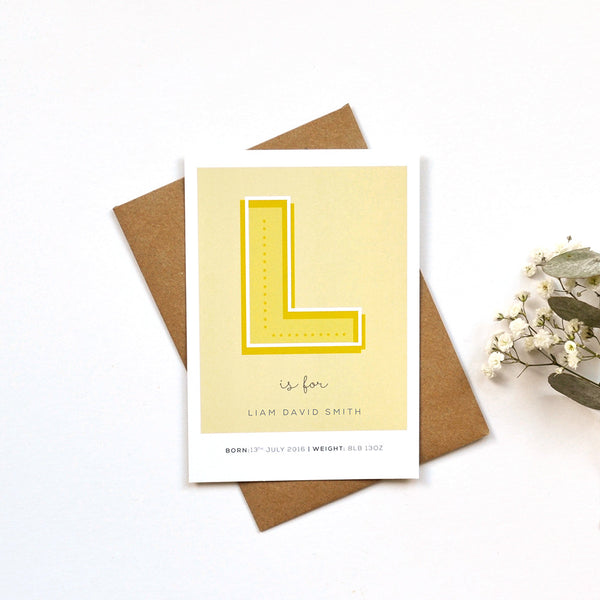 Letter Birth Announcement