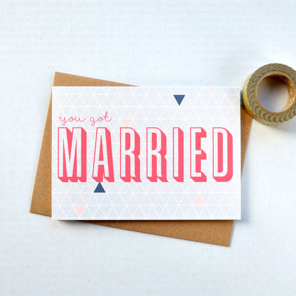 Geometry Wedding Greetings Card