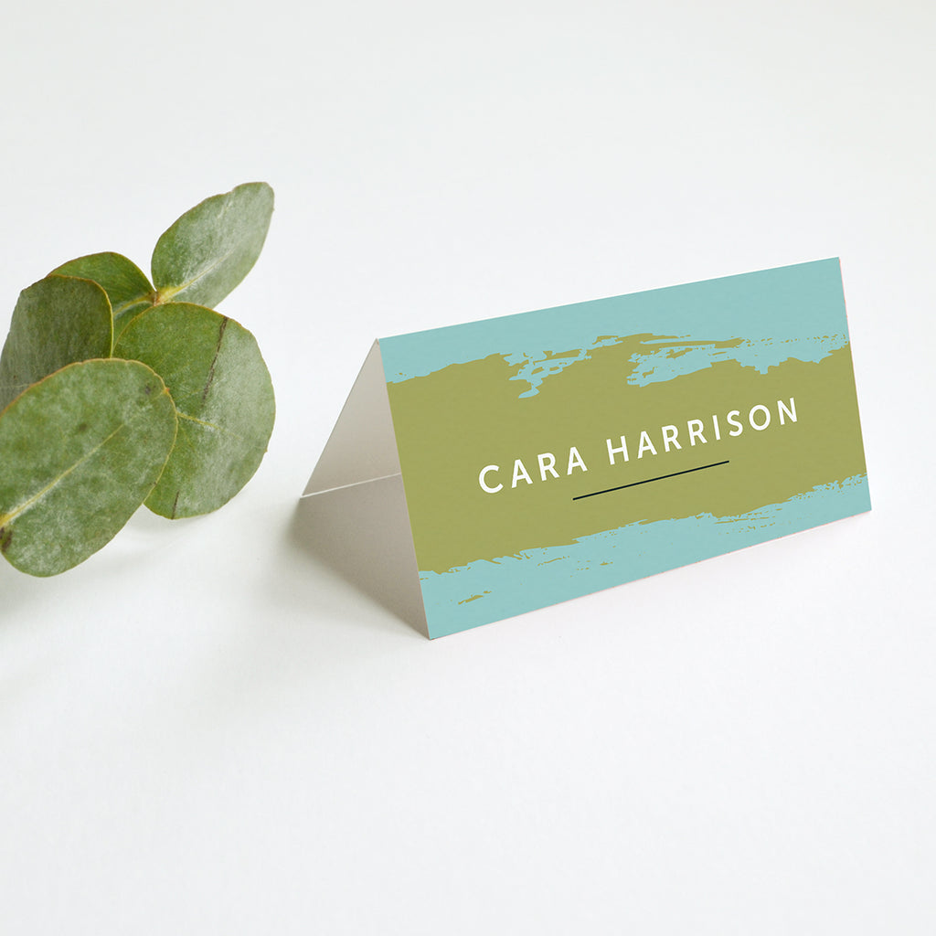 Personalised Wedding Place Cards | Painter
