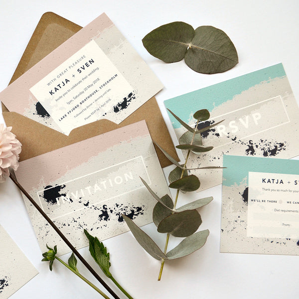 Personalised Wedding Invitation Package | Scandi