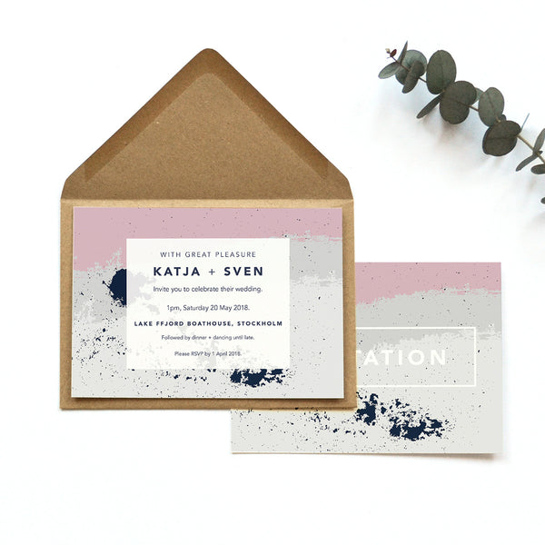 Personalised Wedding Invite | Scandi