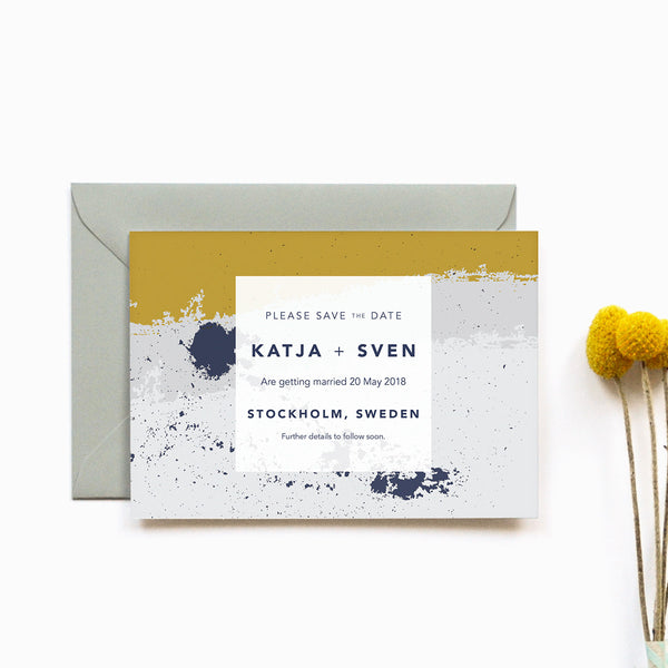 Personalised Wedding Save the Date | Scandi