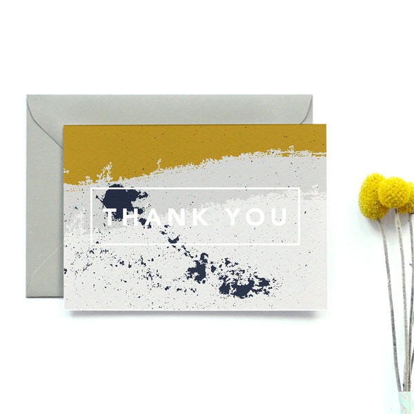 Personalised Wedding Thank you Card | Scandi