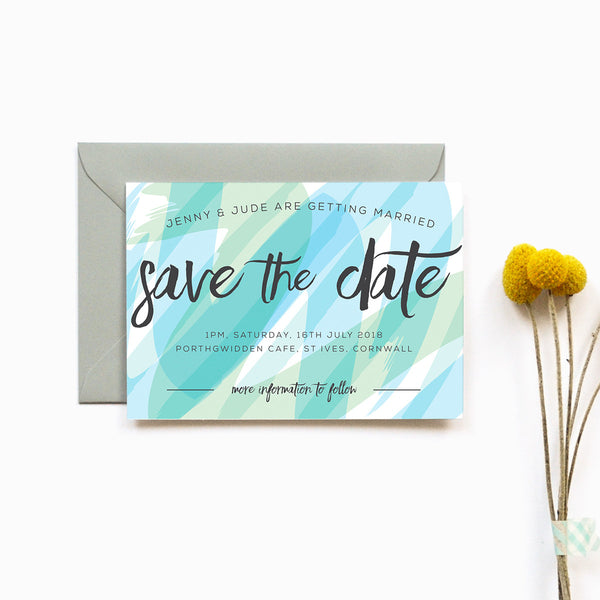 Personalised Wedding Save the Date | Seasalt