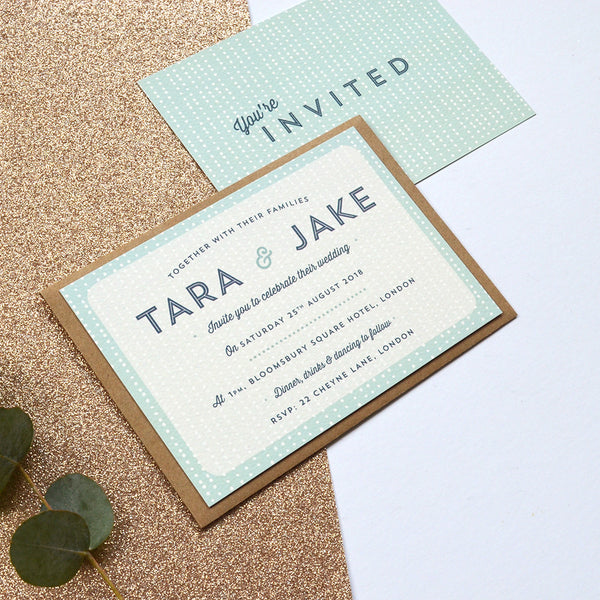 Personalised Wedding Invitations | Sequin Collection