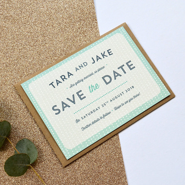 Romantic Save the Date | Sequin Collection