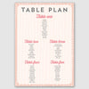 Personalised Wedding Table Plan | Sequin