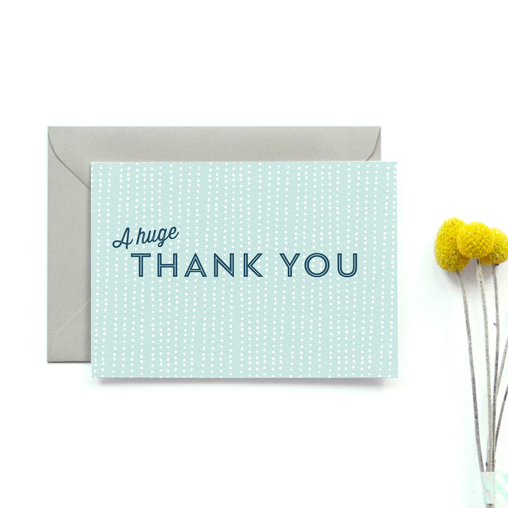 Personalised Wedding Thank you Card | Sequin