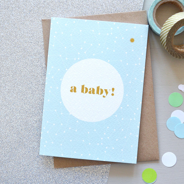 Space New Baby Greetings Card