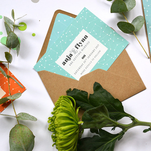 Space | Modern Wedding Invitation Sample Pack