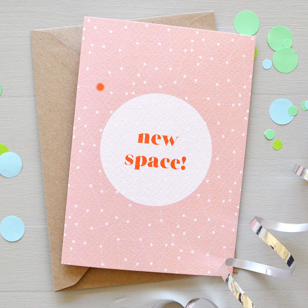 Space New Home Greetings Card