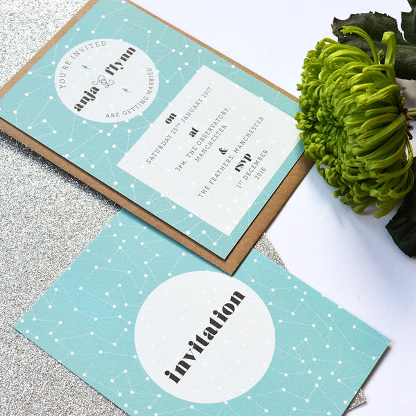 Modern Wedding Invitation | Personalised wedding stationery