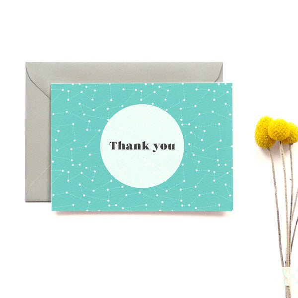 Personalised Wedding Thank you Card | Space