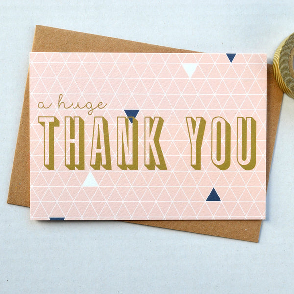 Geometry Thank You Card