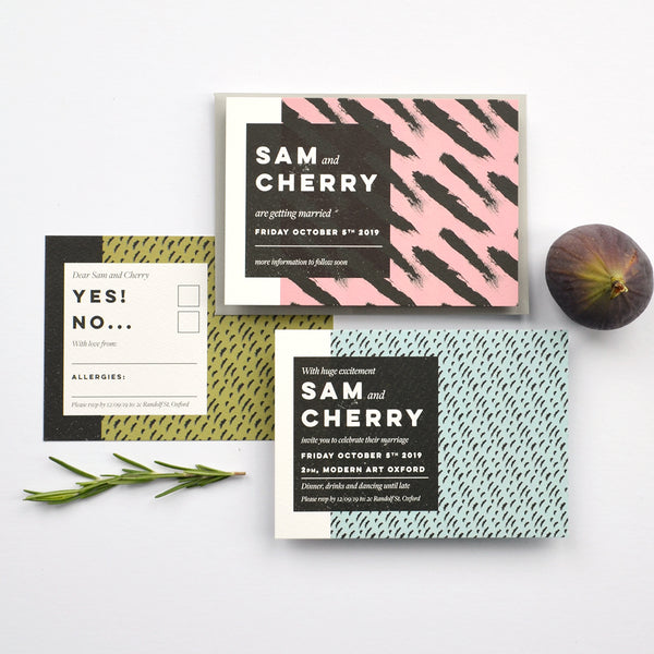 Modern personalised Wedding stationery sample pack | Tribe