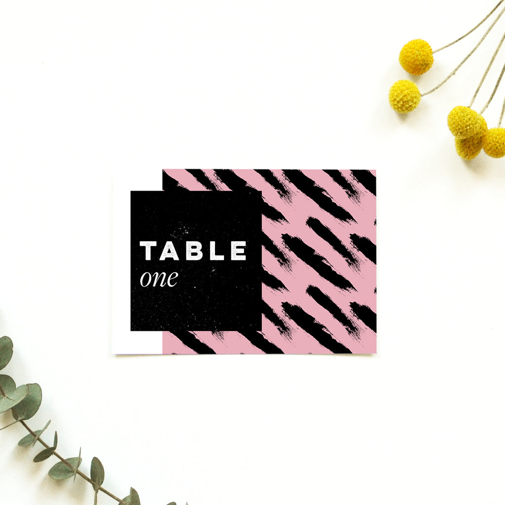 Modern personalised Wedding table name | Tribe