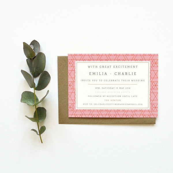 Personalised Wedding Invitation Package | Vivid