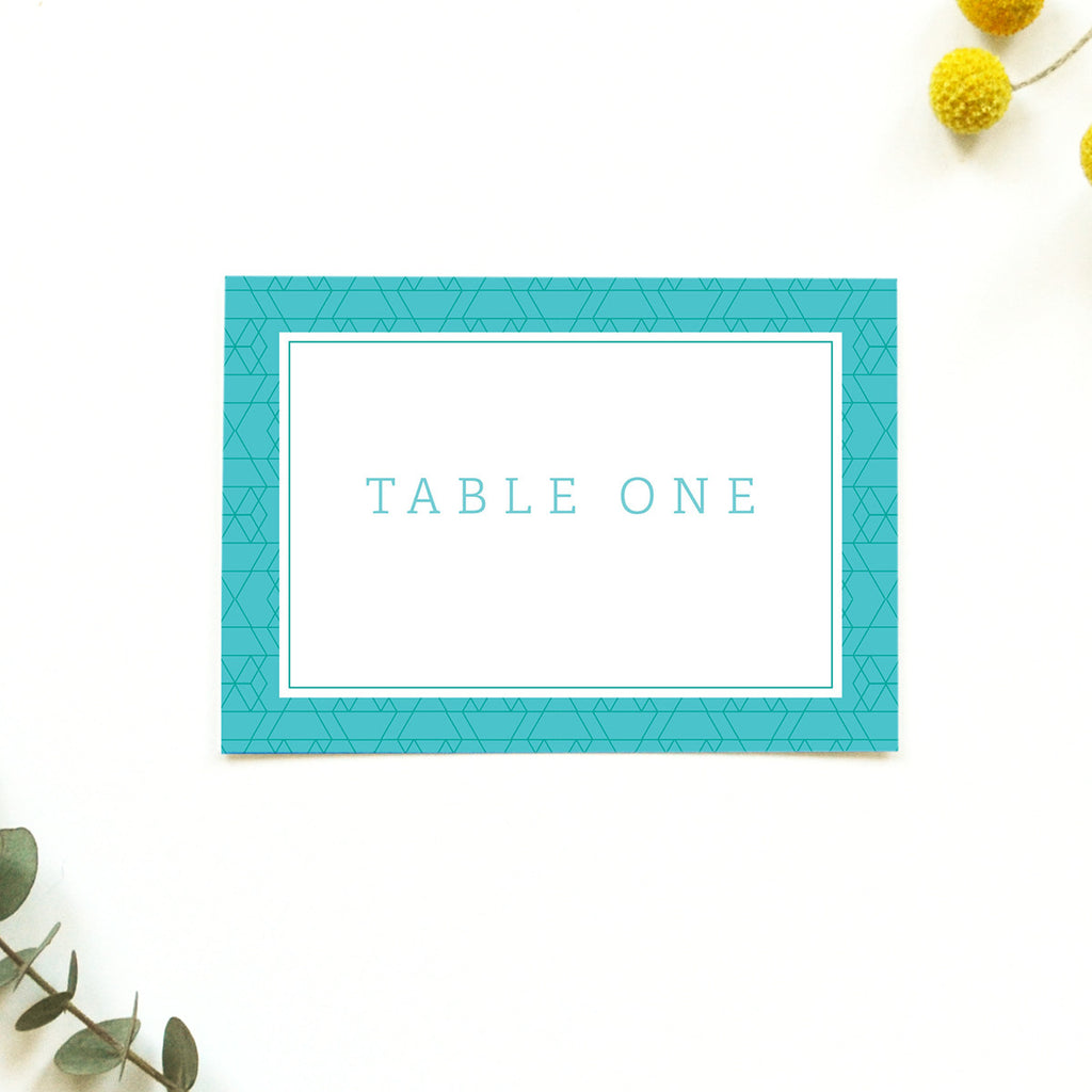 Personalised Wedding Table Name | Vivid