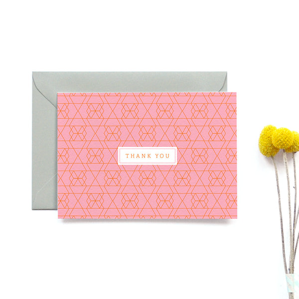 Personalised Wedding Thank you Card | Vivid