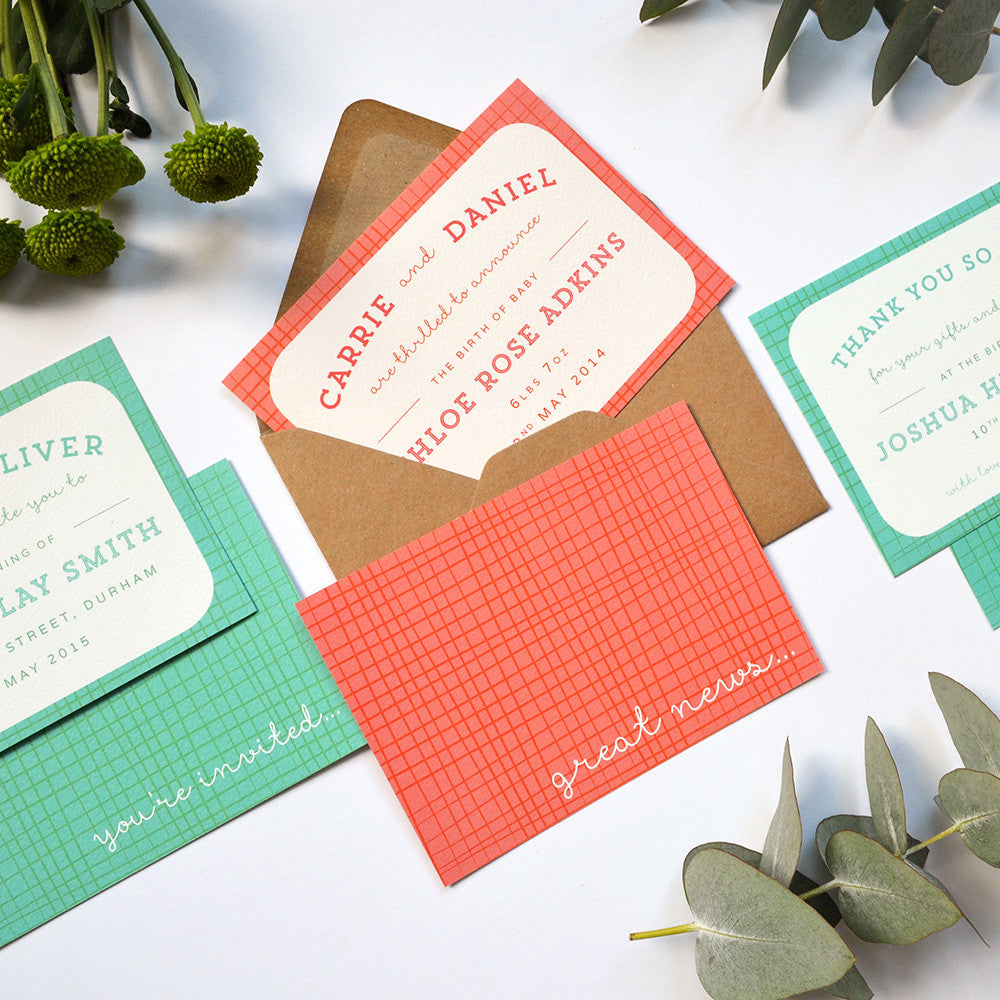 Baby Stationery Sample Pack | Weave