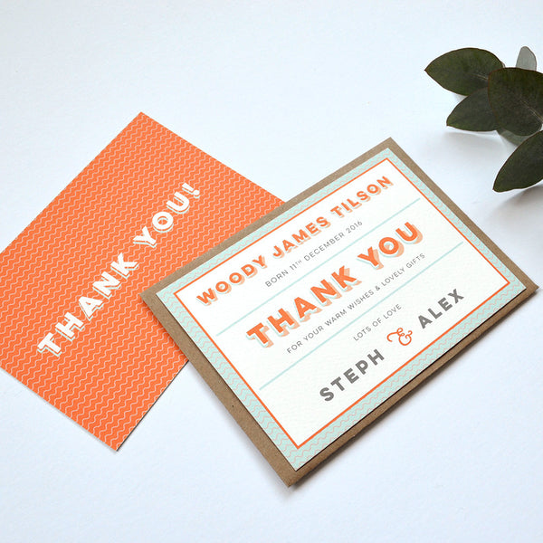 Wiggle Thank You Card