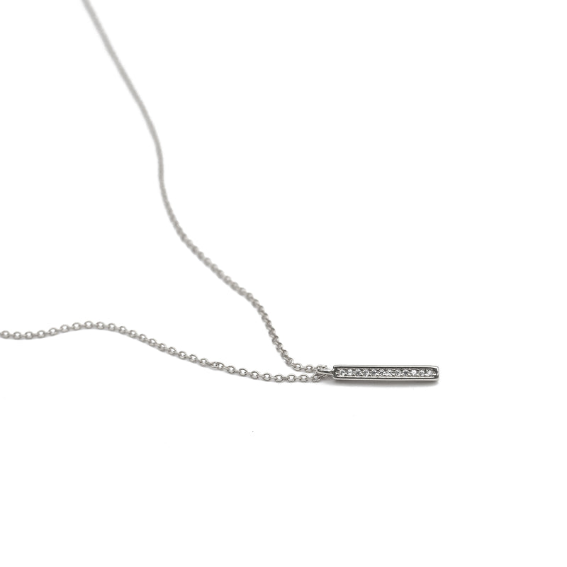 Calhoun Pendant Necklace in Silver