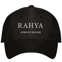 Rahya Jewelry Design Embroidered Hat in Black