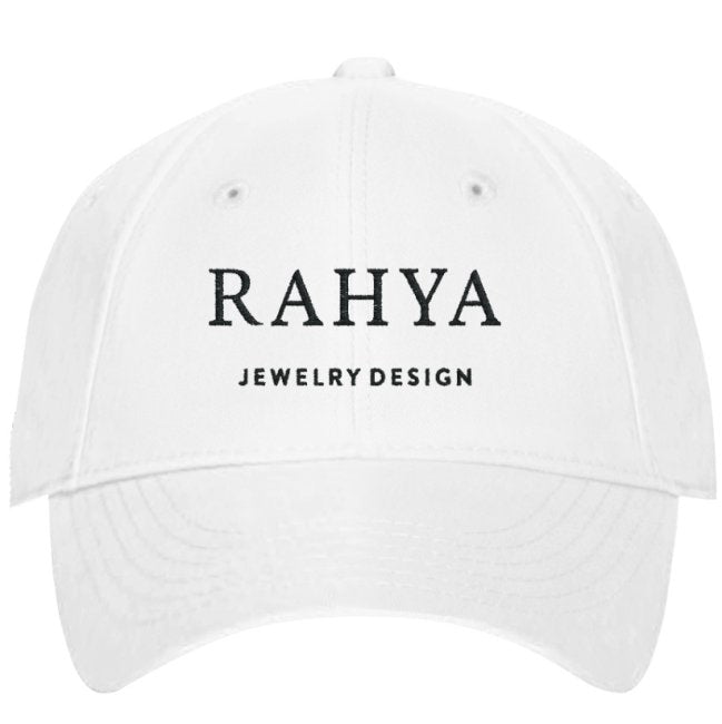 Rahya Jewelry Design Embroidered Hat in White