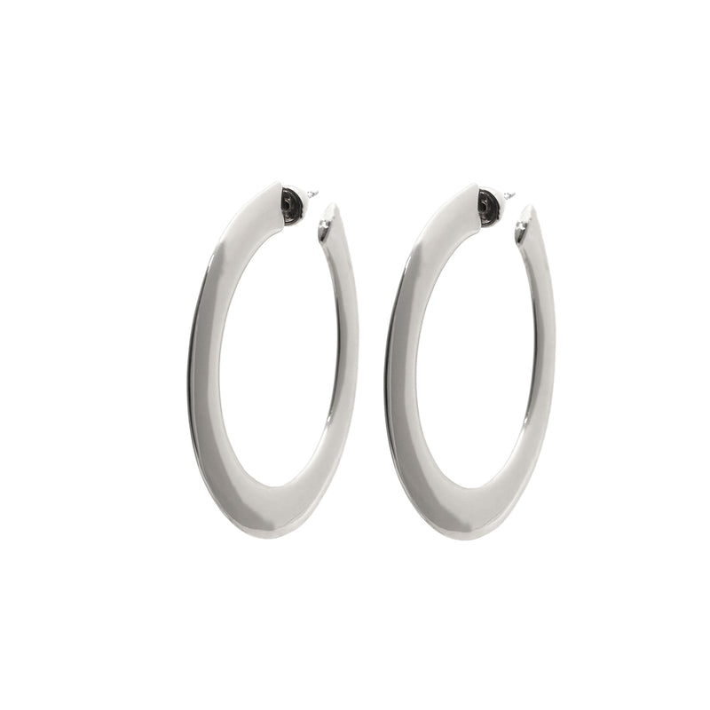 Sage Large Hoop Earrings in Silver