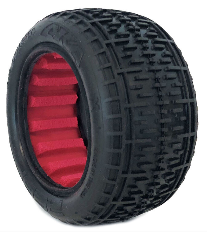 13108VR 1:10 BUGGY REAR TIRES W/ RED INSERT SUPER SOFT - ORANGE