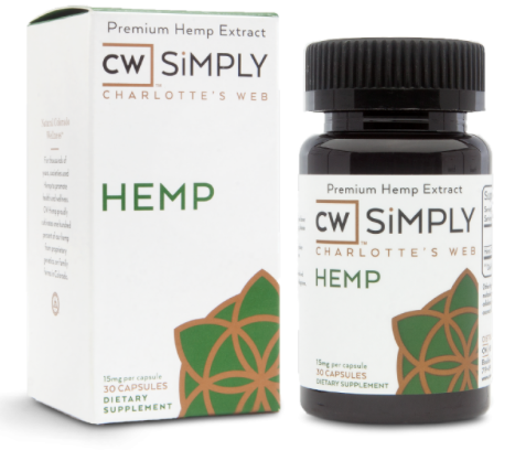 Charlotte's Web Hemp Oil ~ CW SiMPLY HEMP CAPSULES ~ UK