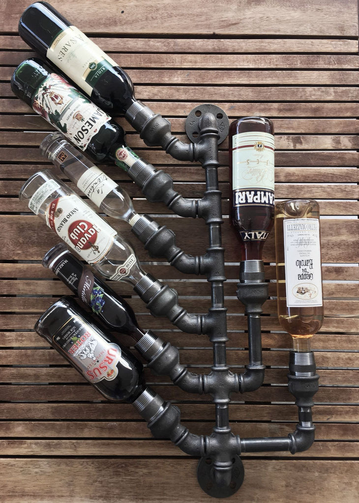 Plumbing Pipe Wine Rack - 8 Bottle Holder