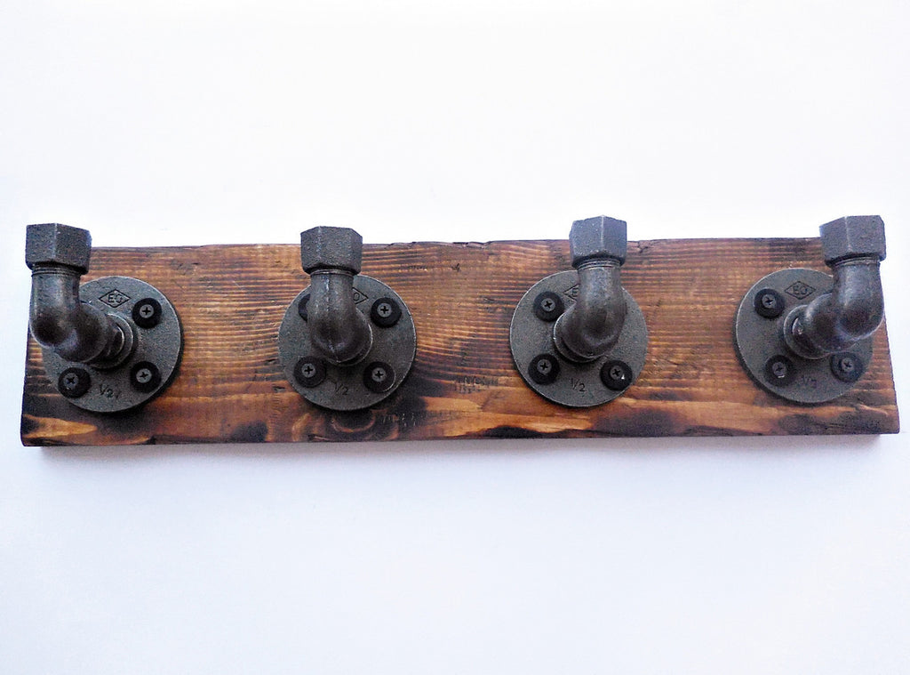 wood & pipe coat rack