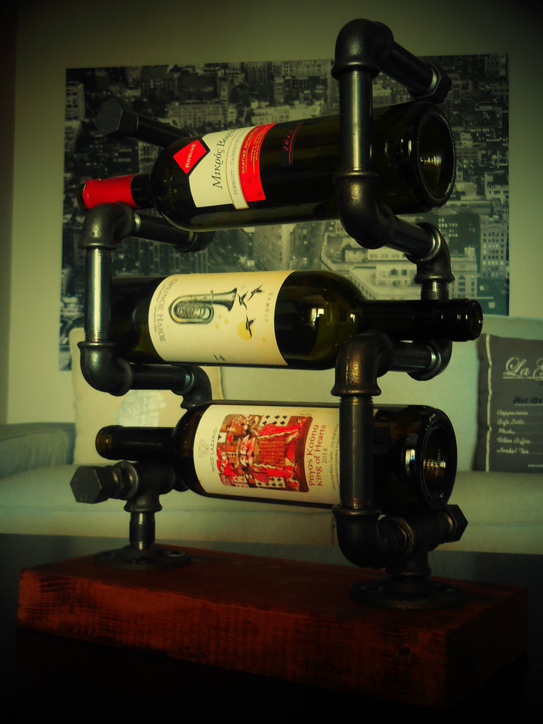 wine bottle table display