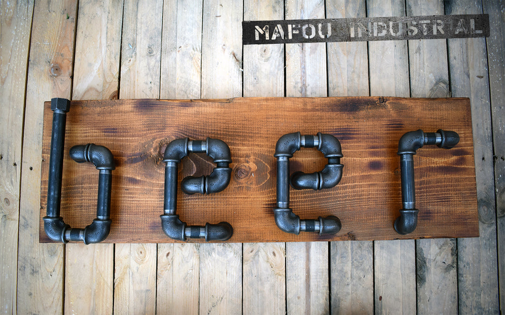 reclaimed wood beer sign