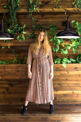 boho retro vintage fashion dress
