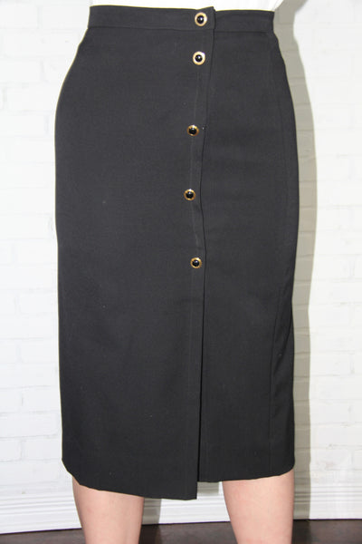 Vintage Slit Pencil Skirt