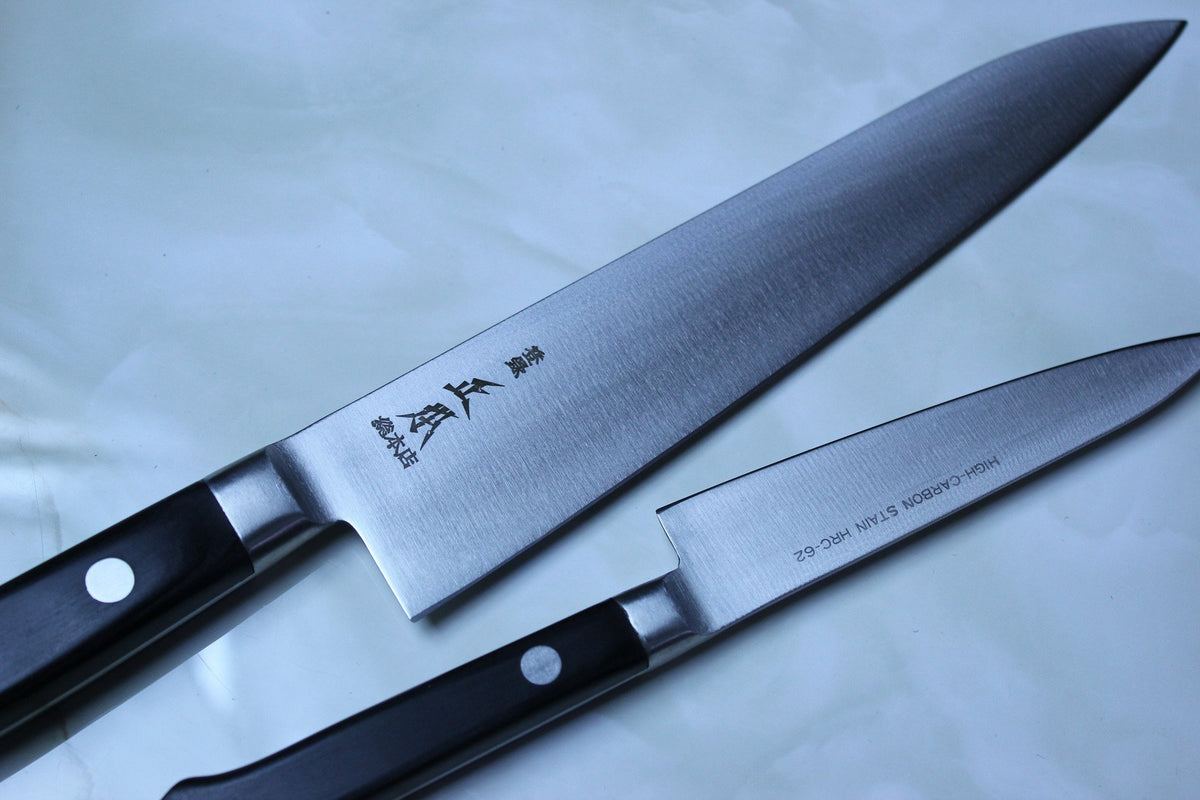 masamoto st series high carbon stainless steel knives the chrome molybdenum vanadium high carbon stainless steel blades of masamoto s st series are sub zero quenched during heat treatment