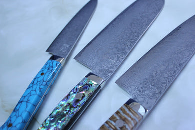 Mr. Itou R-2 Custom Damascus Knife Collections