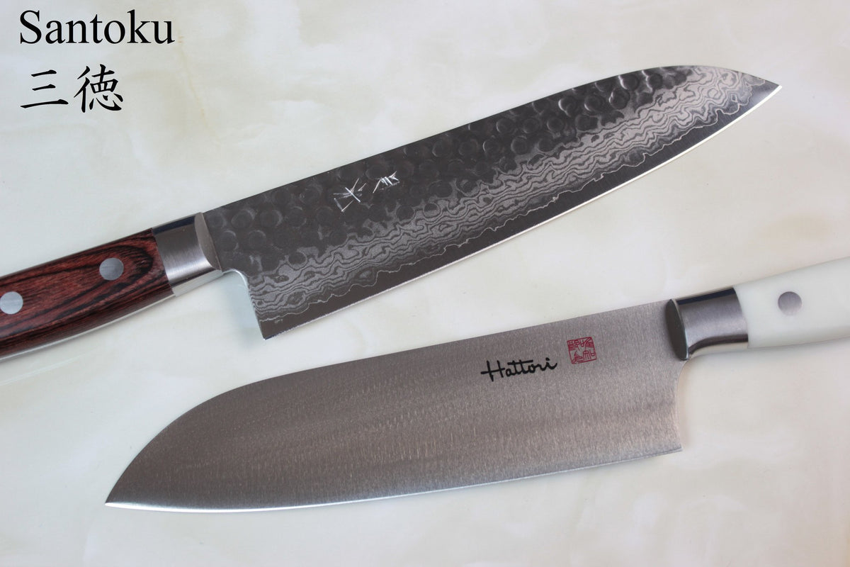 santoku knife japanesechefsknife com gained this name because it is well suited to cutting meat fish and vegetables the santoku is often recommended as a multi purpose kitchen knife