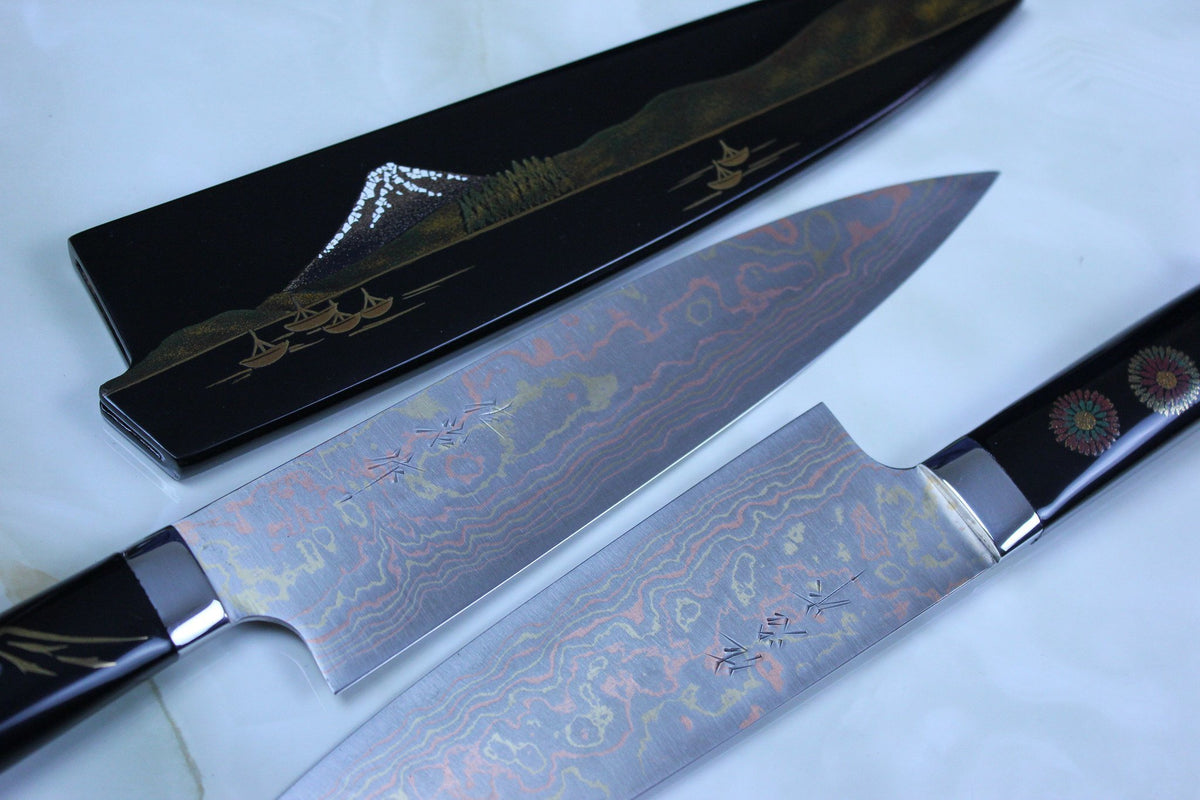 Takeshi Saji Custom Knife Collections From JapaneseChefsKnife.Com